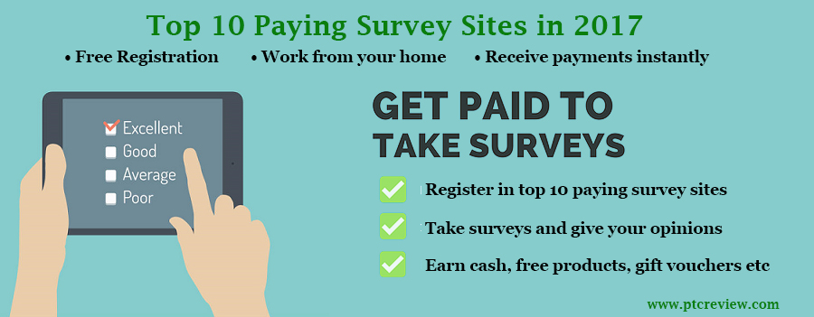 Top 10 Paying Online Surveys - Header